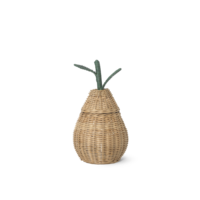 Small Pear Braided Storage - Natural