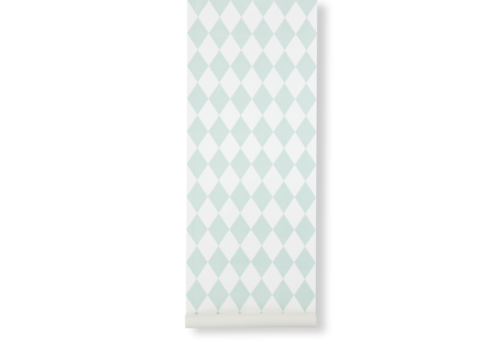 Ferm Living Harlequin Wallpaper Mint