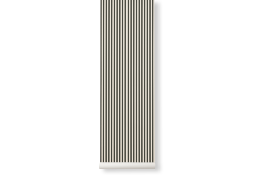 Ferm Living Thin Lines Wallpaper Green/Off White