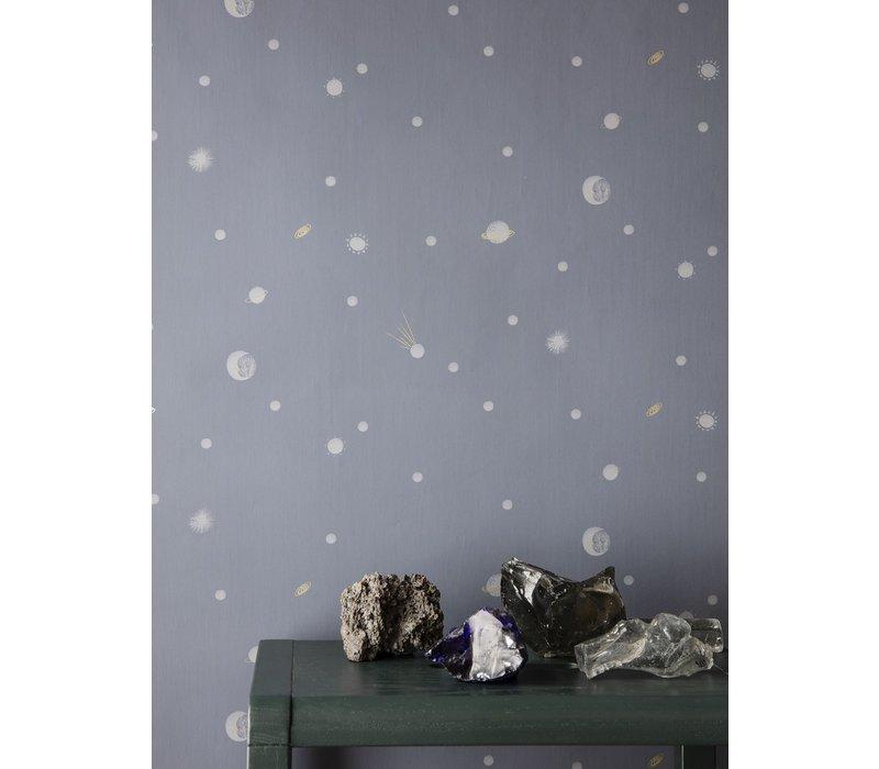 Moon Wallpaper Dark Blue