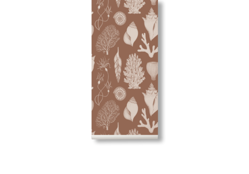 Ferm Living Katie Scott Wallpaper - Shells Toffee