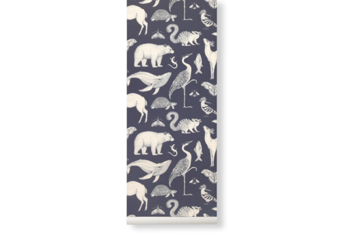 Ferm Living Katie Scott Wallpaper - Animals Blue