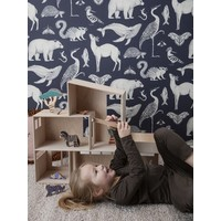 Katie Scott Wallpaper - Animals Blue