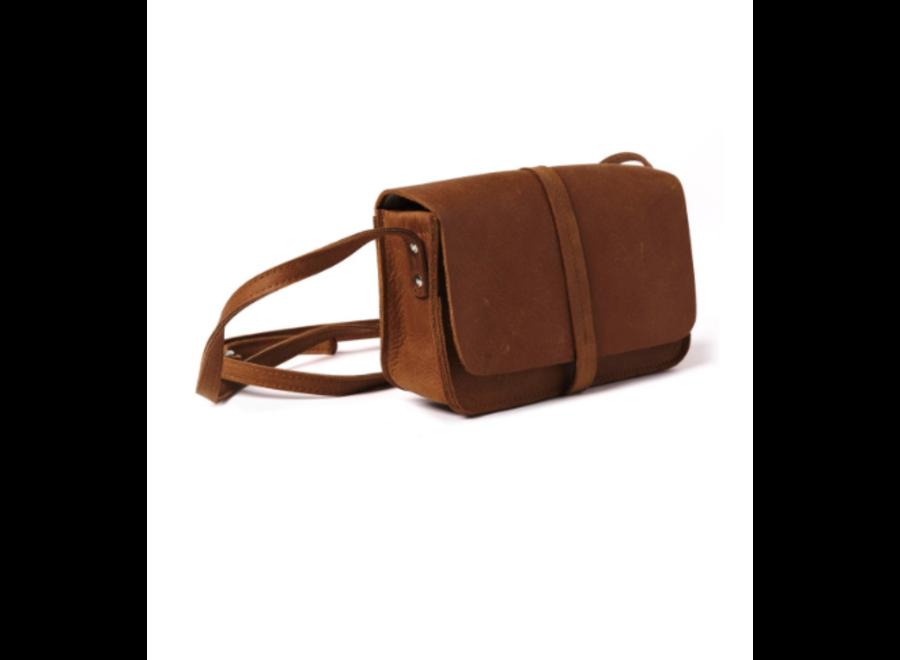 BAG, LUNCH BREAK // Cognac used look