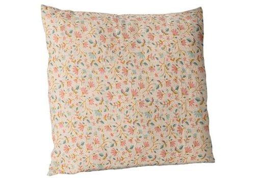 Maileg Cushion w. flowers, 40x40 cm. - Rose
