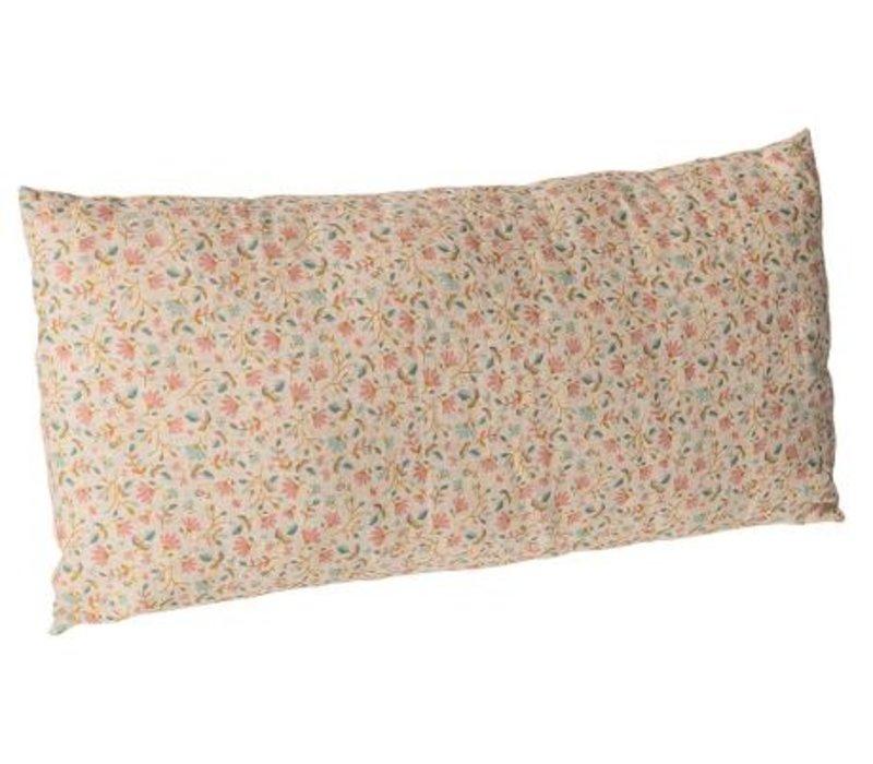Cushion w. flowers, 30x50 cm. - Rose