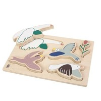 Wooden chunky puzzle, Singing Birds