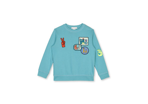 Stella McCartney Kids Sweat With Badges Light Sage