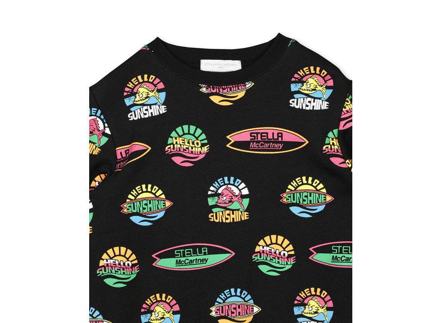 Hello Sunshine Sweat Black/Multicolor
