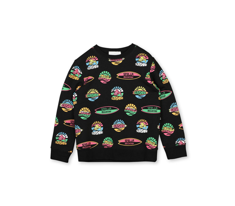 Hello Sunshine Sweat Black/Multicolor