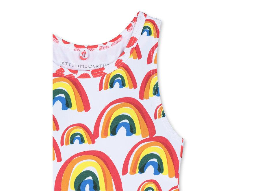 Big Rainbows Swimcostume White/ Pepple