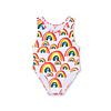 Stella McCartney Kids Big Rainbows Swimcostume White/ Pepple