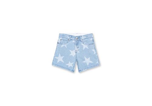 Stella McCartney Kids Stars Denim Shorts Blue/Honey/Beige