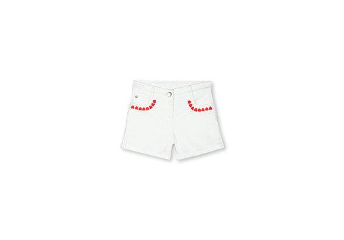 Stella McCartney Kids Denim Shorts With  Hearts Embro Cloud