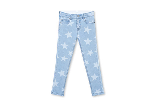 Stella McCartney Kids Skinny Stars Denim Trs Blue/Honey/Beige