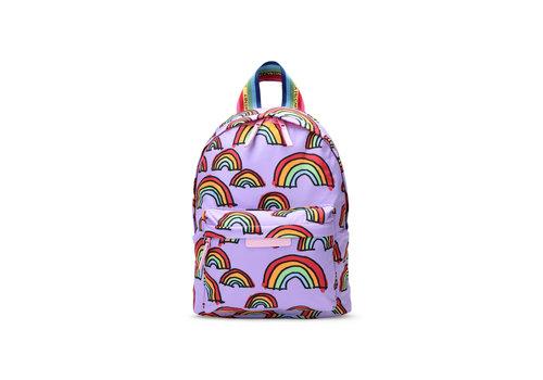 Stella McCartney Kids Scribble Rainbow Backpack Lilac/ Yellow/Blue
