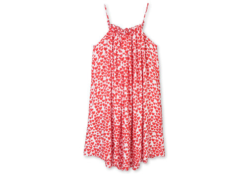Stella McCartney Kids Hearts Viscose Dress White/ Red