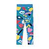 Stella McCartney Kids Graphic Face Blue Leggings Baby Blue/Pink