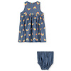 Stella McCartney Kids Rainbow Chambray Dress Blue Sky/Yellow