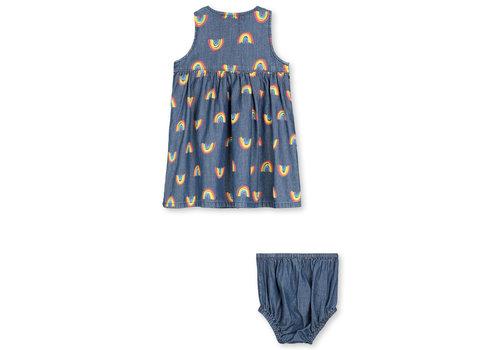 Stella McCartney Kids Rainbow Chambray Dress Blue Sky/Yellow