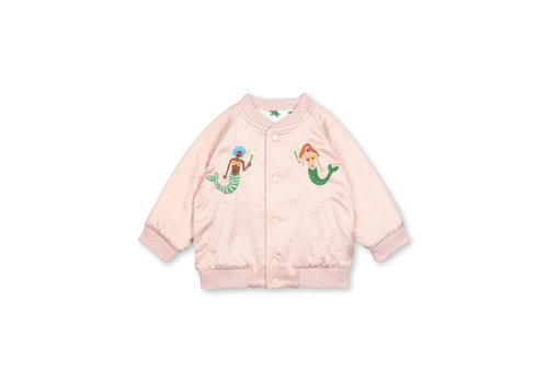 Stella McCartney Kids Bomber Reversible Jkt With  Embro Peonie