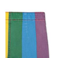 Rainbow Denim Shorts Multicolor Light Blu