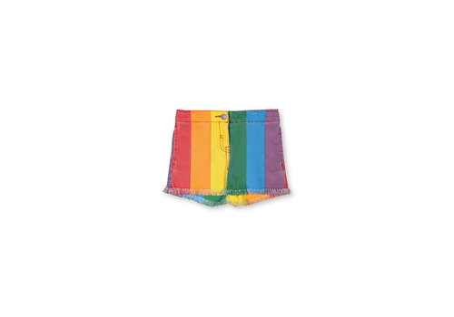 Stella McCartney Kids Rainbow Denim Shorts Multicolor Light Blu