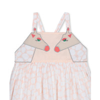 Giraffe Spots Cotton Dress Cameo Rose