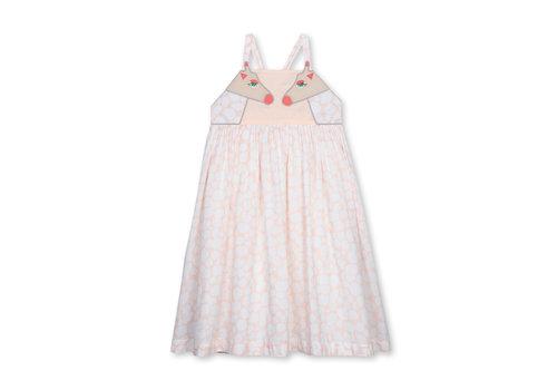 Stella McCartney Kids Giraffe Spots Cotton Dress Cameo Rose