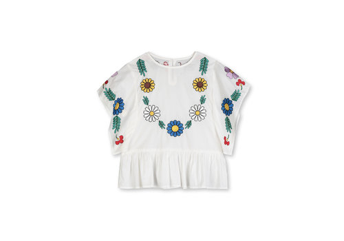 Stella McCartney Kids Cotton Blouse With  Embro Cloud