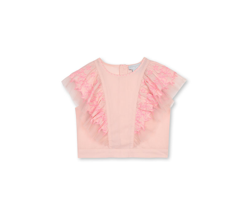 Cotton Top With  Stars Embro Peonie