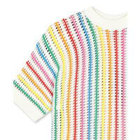 Ss Jumper With  Rainbow Stripes Cloud