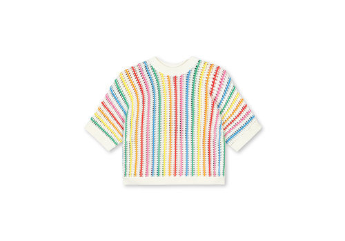 Stella McCartney Kids Ss Jumper With  Rainbow Stripes Cloud