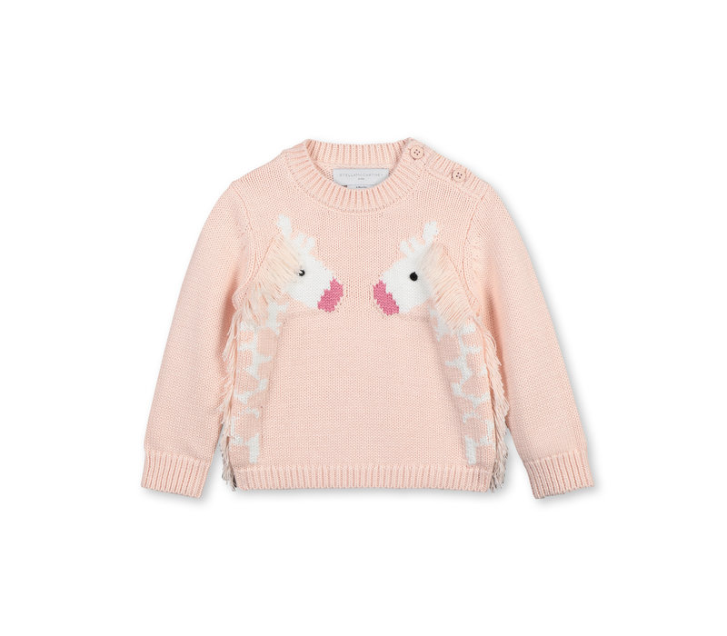 Jumperwith Intarsiagiraffe & Fr Peonie