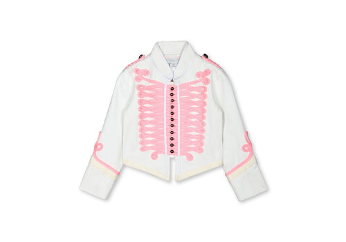 Stella McCartney Kids Military Jkt With  Pink Lace Cloud