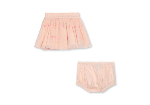 Stella McCartney Kids Little Hearts Tulle Skirt Pink/ Violet