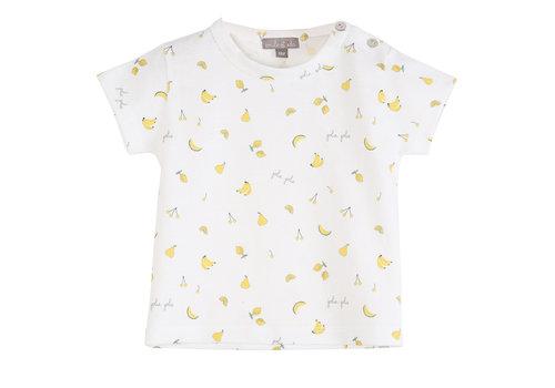 Emile et Ida Tee Shirt Ecru Tutti Fruiti