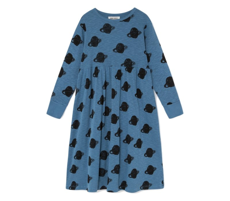 All Over Big Saturn Jersey Dress
