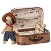 Maileg COWBOY IN SUITCASE, LITTLE BROTHER MOUSE