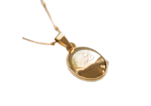 Lennebelle  Medaillon Ketting Moeder 'Keep you close to me' - Gold plated 60 cm.