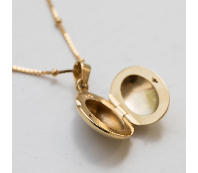 Medaillon Ketting Moeder 'Keep you close to me' - Gold plated 60 cm.