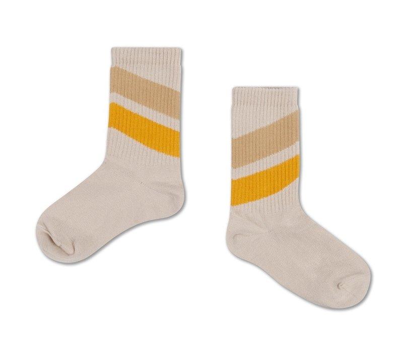 Socks Sun Gold Sand Diagonal