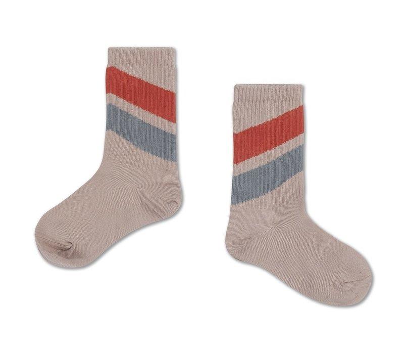 Socks Red Dust Blue Diagonal