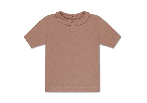 Repose AMS T Shirt With Collar Powder Creme