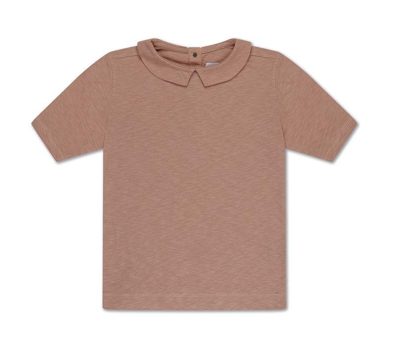 T Shirt With Collar Powder Creme