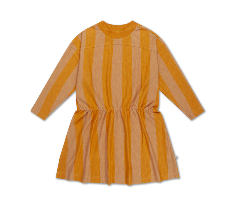 Skater Dress Golden Block Stripe
