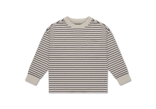 Repose AMS Sweat Tee Dark Night Grey Stripe