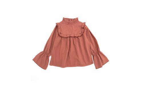 Long Live the Queen ruffle blouse copper