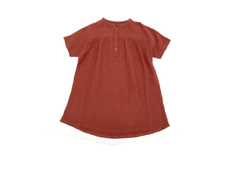 crinkle dress ss copper