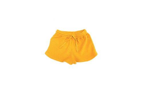 Long Live the Queen terry shorts golden yellow
